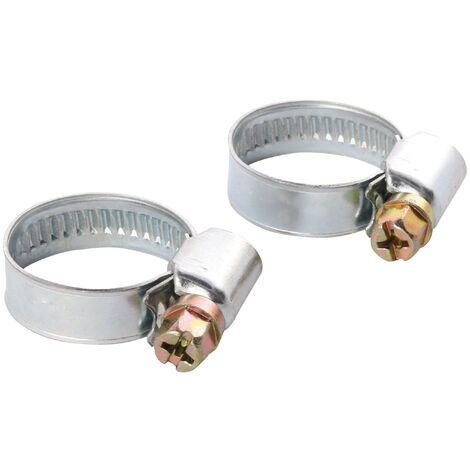 Schlauchklemme | 2er Set | 1 Zoll | Spannbereich 25 - 40 mm | Bandbreite 9 mm | Stahl