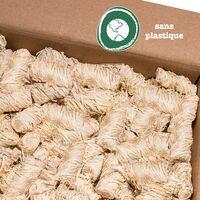 grillas Allume-feu en Laine écologique (2,5 kg ( 200 pièces), imprégné de Cire| Allume Charbon | Briquet Grill | Briquet à Cire | Laine d'allumage | Auxiliaire d'allumage | Laine de bois