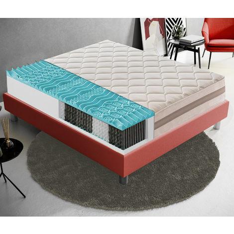 Materasso 80x200 900 Molle insacchettate e memory foam 9 Zone differenziate – Alto 22 cm