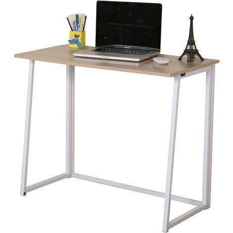 Cherry Tree Furniture Compact Foldable Computer Desk Laptop Desktop Table (Natural)