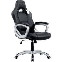 Cherry Tree Furniture Designed Racing Sport Swivel Office chair Computer Desk Chair (Black)