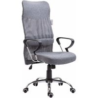 High Back Mesh Fabric Swivel Office Chair (Grey)
