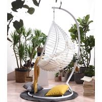 Cherry Tree Furniture Breeze White Rattan Effect Hanging Egg Chair