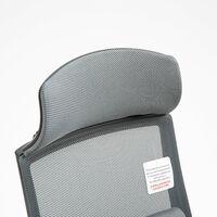 Cherry Tree Furniture Beni Plus Mesh Swivel Office Chair with Massage Lumbar Cushion in Grey