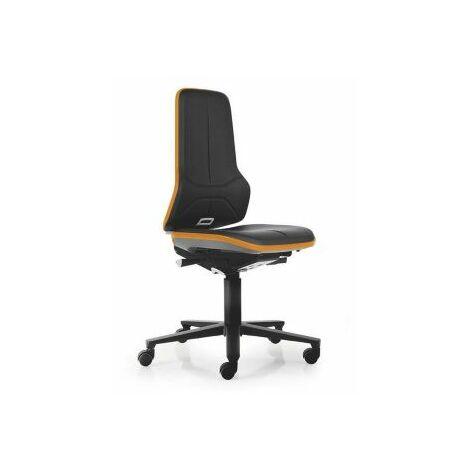 NEON Arbeitsdrehstuhl, Sitzmaterial Kunstleder, Flexband orange Bürostühle