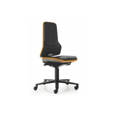 NEON Arbeitsdrehstuhl, Sitzmaterial Integralschaum, Flexband orange Bürostühle