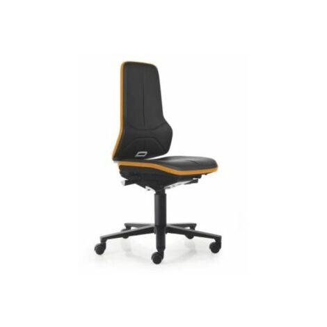 NEON Arbeitsdrehstuhl, Sitzmaterial Kunstleder, ESD, Flexband orange Bürostühle