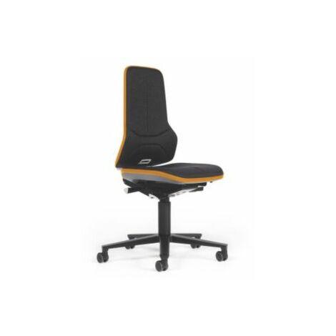 NEON Arbeitsdrehstuhl, Sitzmaterial Stoff, Flexband orange Bürostühle Drehstühle