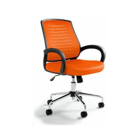 Bürodrehstuhl Justus   HxBxT 1030 x 590x 490 mm   Orange   Certeo Bürostuhl