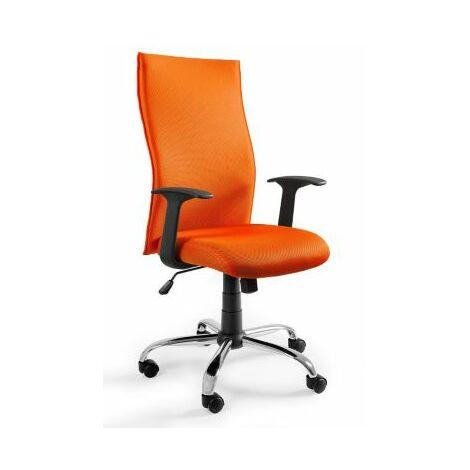 Bürodrehstuhl Leonard | HxBxT 1110 x 620 x 460 mm | Orange | Certeo Bürostuhl