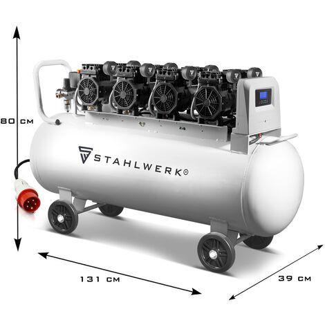STAHLWERK Druckluft Kompressor ST 1510 pro Flüsterkompressor mit 150 L Kessel, 10 Bar, 840l/min Durchfluss, verschleißfreier Brushless Motor, ölfrei, leise und wartungsarm, 7 Jahre Garantie