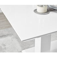 Imperia 6 White High Gloss Dining Table