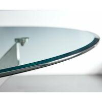 Novara 100cm Round Dining Table & 2 White Isco Chairs