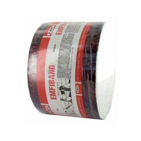 Ladrillo autoadhesivo impermeabilizante en frío EMFI rojo 10cm x 10m