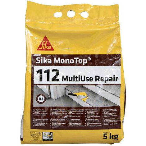 Mortero listo para usar SIKA Monotop 112 Multiuse Repair - 5kg - Gris