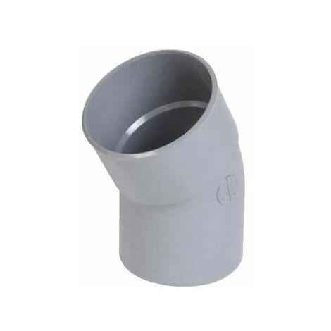 Codo de PVC NICOLL - 30° - Diámetro 32 - Macho hembra - para pegar - 20008Y