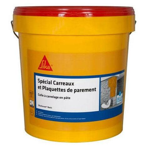 Adhesivo en pasta para azulejos y placas de revestimiento (D1-ET) - SIKA SikaCeram Basic - Marfil - 25kg - Beige