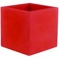 VONDOM Pot Model Cubo - Rojo mate - 50cm