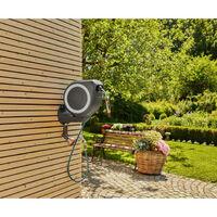 Enrollador automático de pared GARDENA RollUp M - 20 m - Blanco - 18612-20 - Blanc