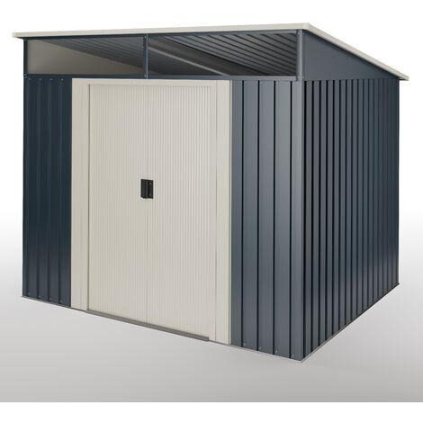 Abri de jardin Wasabi Stark 4.6 m2 - Garantie 10 ans - 194x239x203cm. Remise m�tal