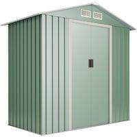 Abri de jardin Wasabi Light Green S 2.2 m2 - Garantie 10 ans - 194x110x188cm. Remise métal