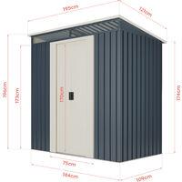 Abri de jardin Wasabi Stark 2.3 m2 - Garantie 10 ans - 121x195x196cm. Remise métal