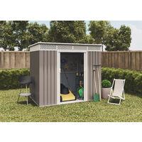 Abri de jardin en métal Nykop 3.02m2 - Garantie 10 ans - 213x142x184cm. Remise métal