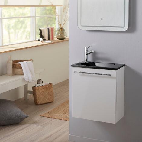 Pack lave mains Hamac blanc + Lave mains noir + robinet eau froide