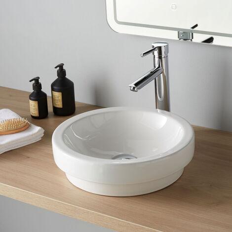Vasque à poser ou semi encastrable ronde Jersey