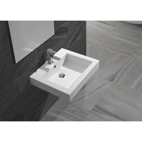 Vasque Semi encastrable ou à suspendre en solid surface Empezo 46