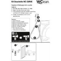 Kit douchette WC Curve hygiène intime en laiton chromé