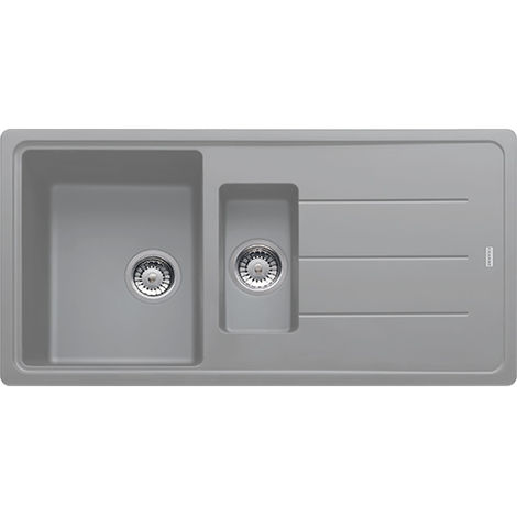 Franke Basis Bfg651 1.5b 1d Fragranite Reversible Inset Kitchen Sink Stone Grey