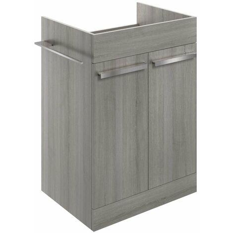 BTL Morina Floor Standing Vanity Unit 600 Elm Grey - No Worktop