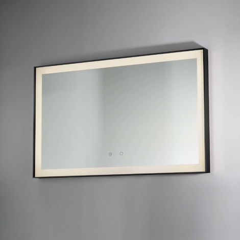 BTL Lecco 800x600mm Edge Lit Illuminated Mirrors Rectangular Black