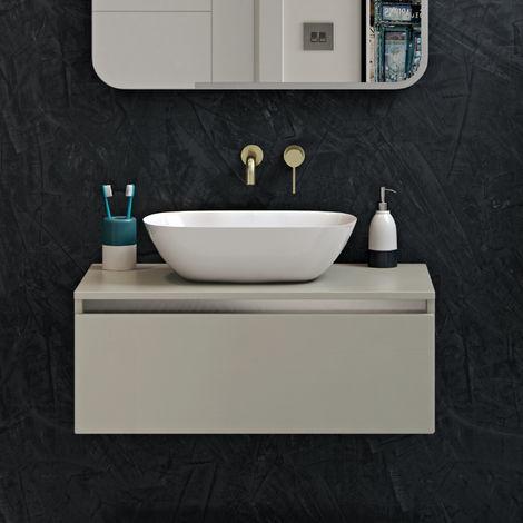 Horizon Jupiter 460mm Polymarble Countertop Wash Basin In White
