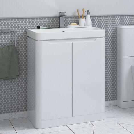 Horizon Tahoe 500mm Floorstanding Bathroom Vanity Unit and Basin in White