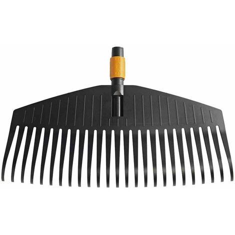 Fiskars Rastrillo para hojas, cabeza de la herramienta, 25 dientes, Longitud: 50 cm, dientes de plástico, Negro/Naranja, QuikFit, 1000642
