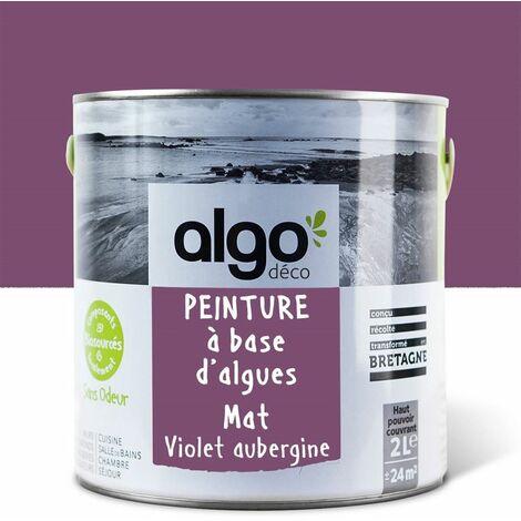 Peinture écologique Algo à base d'algues 100% naturelles - Mat - Violette (Aubergine croustillante de la méditérranée) - 2L