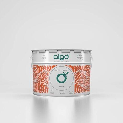Peinture écologique Algo à base d'algues 100% naturelles - Sous-couche - Blanc - 0.5L