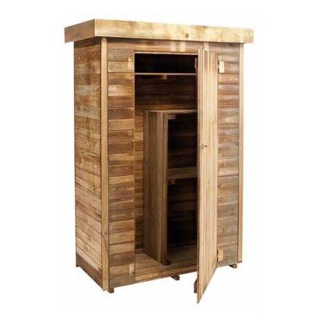 Armoire de jardin en bois 3 étagres - 1,56 m3