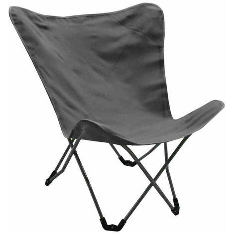 Lot de 2 fauteuils détentes pliables Aponi - TPEP - Gris