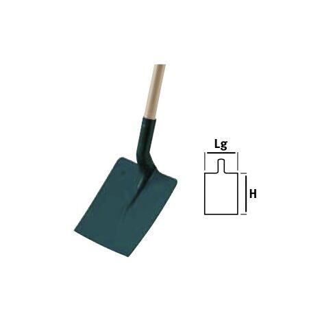 Pelle carrée tôle 25cm manche bois