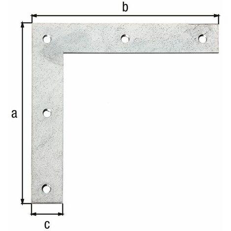 Équerre d'angle galva zinguée sendzimir 120x120x20
