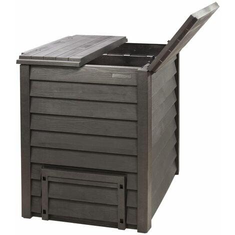 Composteur Thermo-Wood 400 L brun + grille de fond.