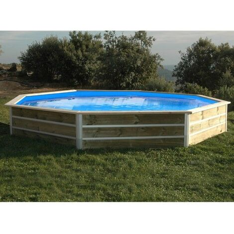 Piscine bois ronde - Ø 4,60 x H. 1,11 m LEYTE