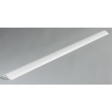 Cache-câble blanc pour moulure, H.100 x P.7 cm