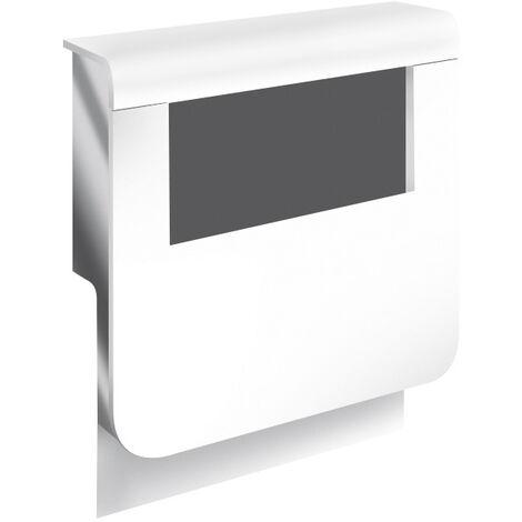 Adaptateur blanc pour plinthe, H. 19 x P.16.5 cm