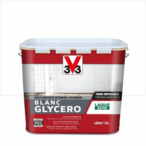 Peinture multisupport V33 Glycéro blanc satiné, 5 l