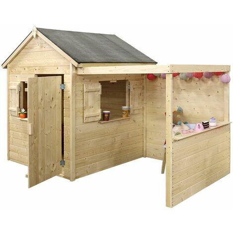 Maisonnette en bois pour enfants enfant ALPAGA