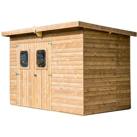 Abri THEORA en bois massif sans plancher, toit mono pente 6,78 m²